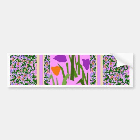 Mod Pink Flower Border by CricketDiane Bumper Sticker