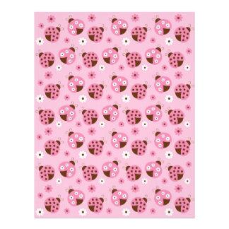 Mod Pink Ladybug Baby Scrapbook Paper Letterhead