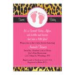 Mod Pink Leopard Print Baby Shower Invitation