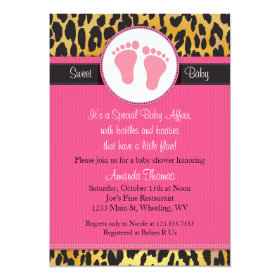 Leopard print baby shower invitations funky invitations mod pink leopard print baby shower invitation filmwisefo Gallery