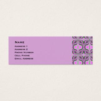 Mod Pink Mauve Abstract Pattern Mini Business Card