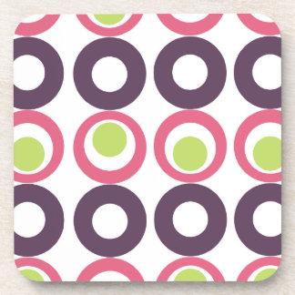Mod Pink Olives Designer Coasters (set of 6)