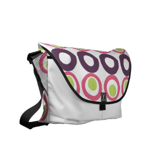 Mod Pink Olives Pattern Rickshaw Messenger Bag