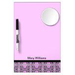 Mod pink pattern design Dry-Erase boards