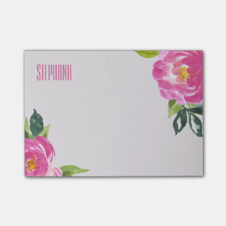 Mod Pink Peonies Post-it® Notes