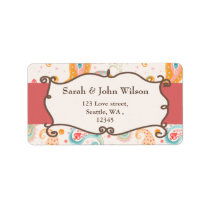 mod pink, return address label