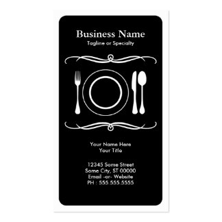 mod place setting Double-Sided standard business cards (Pack of 100)