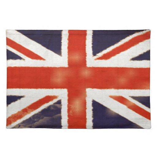 MOD Placemats de Union Jack del vintage Mantel Individual