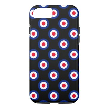 USA Themed Mod Polka Dots Roundel Pattern iPhone 7 Case