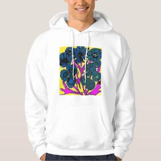 Mod Pop Art Flowers Hoodie