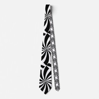 MOD POP ART RETRO BLACK & WHITE TIE