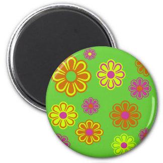 mod pop flowers groovy refrigerator magnets