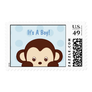 Mod Pop Monkey Postage Stamp It s A Boyl