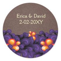 mod  purple brown envelope seal