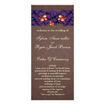 mod  purple brown Wedding program