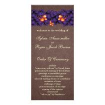 mod  purple brown Wedding program