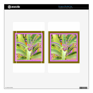 Mod Purple-Pink-Green Agave Gifts Kindle Fire Skins