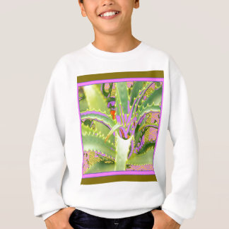 Mod Purple-Pink-Green Agave Gifts Sweatshirt