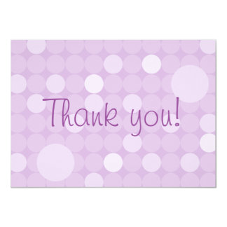 Mod Purple Polka Dot Baby Shower Thank You 4.5x6.25 Paper Invitation Card