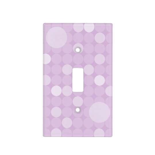 Mod Purple Polka Dot Light Switch Cover Zazzlecom
