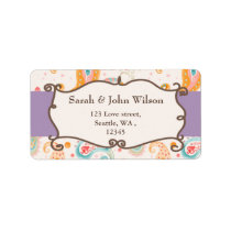 mod purple, return address label