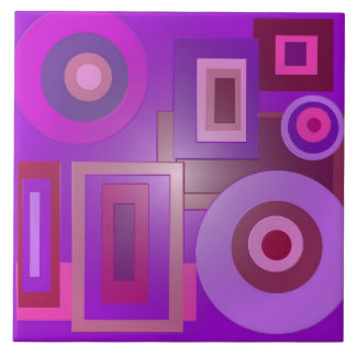 mod purple shapes anstract tile