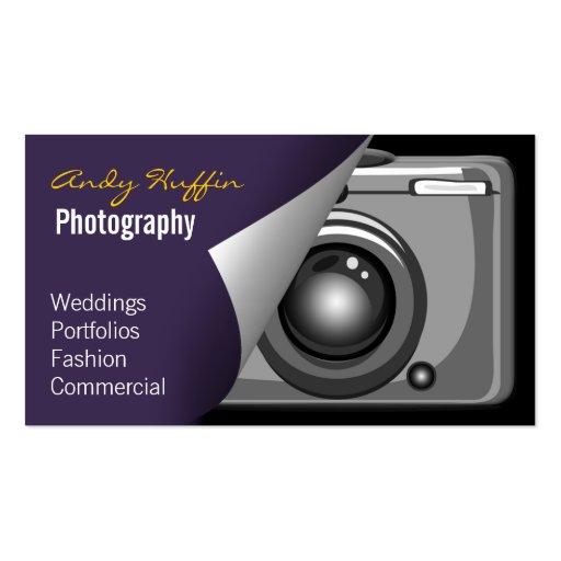 MOD púrpura Photoraphy, cámara Tarjeta De Visita