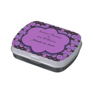 MOD que casa el modelo púrpura y negro Frascos De Caramelos