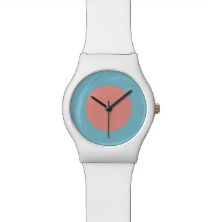 Mod RAF Low Visibility Roundel Matte White Watch
