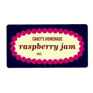 Mod Raspberry Jam Home Canning Jar Label Shipping Label