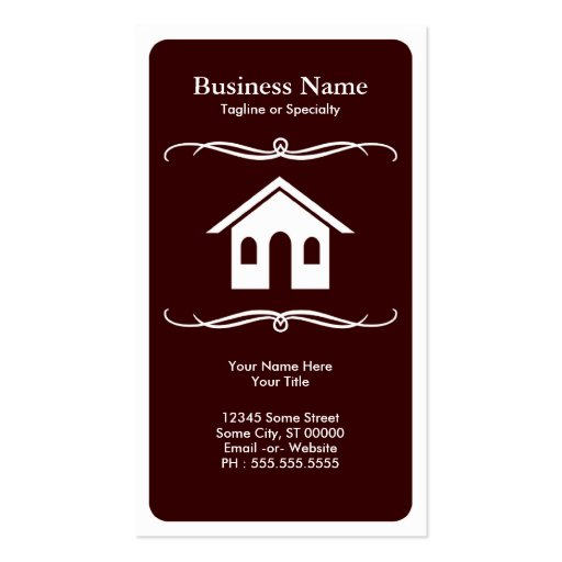 mod real estate business cards