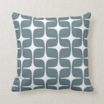 Mod Rectangles Pattern in Blue Grey and White Pillows