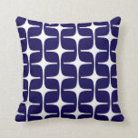 Mod Rectangles Pattern in Cobalt Blue and White Pillows