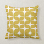 Mod Rectangles Pattern in Mustard and White Pillow
