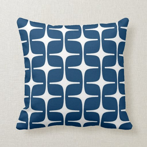 Mod Rectangles Pattern in Navy and White Pillows