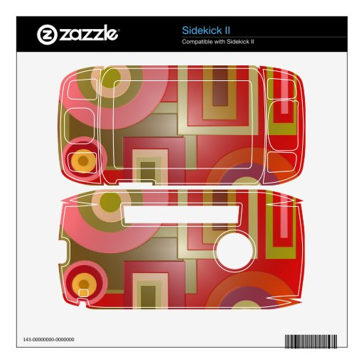 Mod red circles squares abstract sidekick II decal