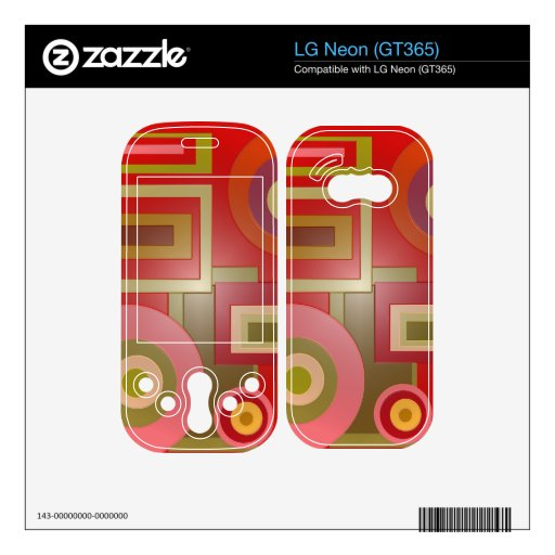 Mod red circles squares abstract decals for the LG neon