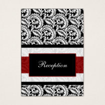 mod red damask Reception   Cards