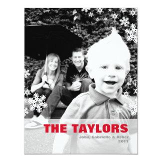 Mod Red Photo Christmas Card