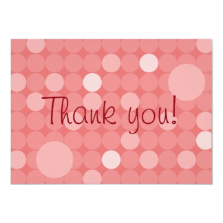 Mod Red Polka Dot Baby Shower Thank You 4.5x6.25 Paper Invitation Card