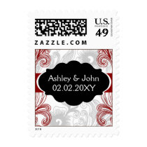 mod red wedding stamps