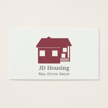 Mod red white classy real estate businesscards business card reheart Image collections
