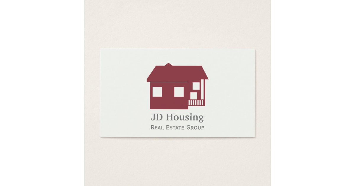 Mod red white classy real estate businesscards business card reheart Gallery