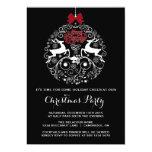 "Mod Reindeer Ornament Christmas Party Invitation 5"" X 7"" Invitation Card"