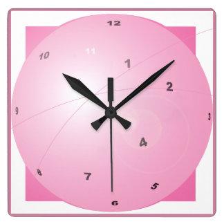 MOD retra de la edad atómica del rosa orbital Reloj Cuadrado