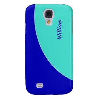 MOD retra del verde azul brillante de la turquesa Funda Samsung S4