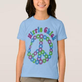 MOD retra floral y camisetas del símbolo de paz,