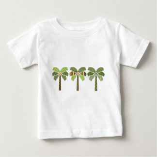 Mod Retro Abstract Patchwork Palm Trees Infant T-shirt