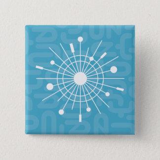 MOD Retro Atomic Snowflake Christmas Pinback Button