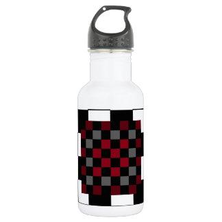 Mod Retro Hipster Checkerboard 18oz Water Bottle